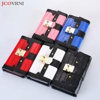 JCOVRNI 2018 fashion ladies stitching leather phone case bag for Apple X i7 i8 plus flip card multi function phone back cover