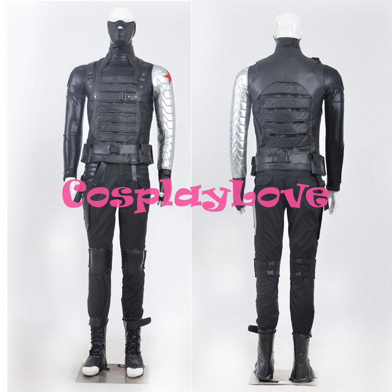 New Custom Made American Movie Captain America: The Winter Soldier Winter Soldier Cosplay Costume High Quality