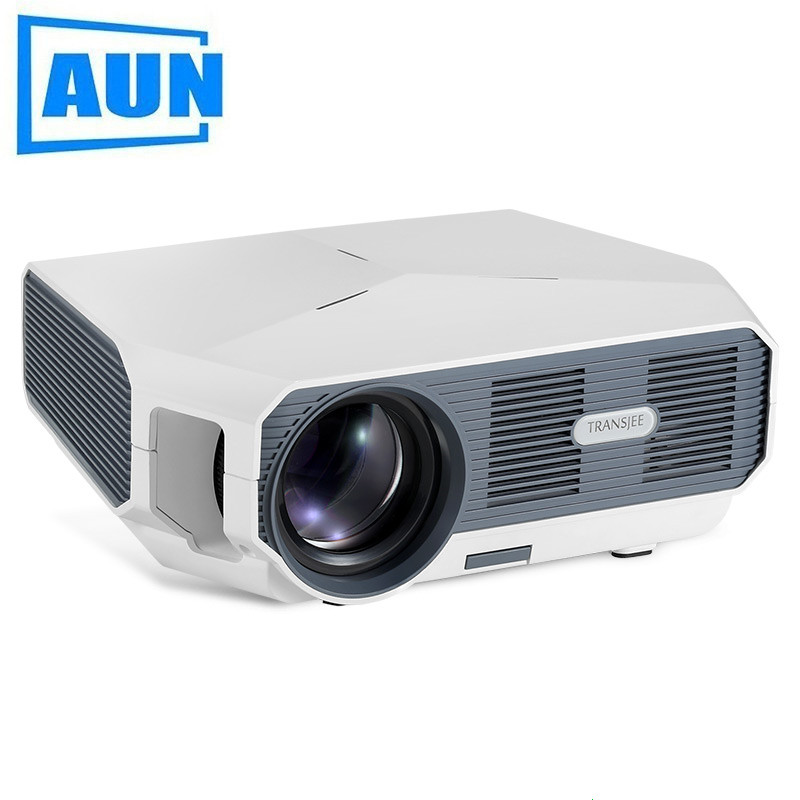 AUN ET HD MINI Projector, 1280x720P, Video Beamer. 3500 Brightness. 3D Cinema. Support 1080P,HD-IN,USB(Optional Android Version)(China)