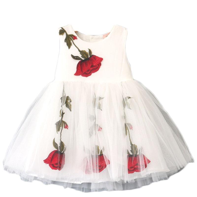 Baby Girl Clothes Princess Dress Summer 2017 Toddler Girls Dresses Floral  Print Kids Dresses for Girls 3d5a495a1