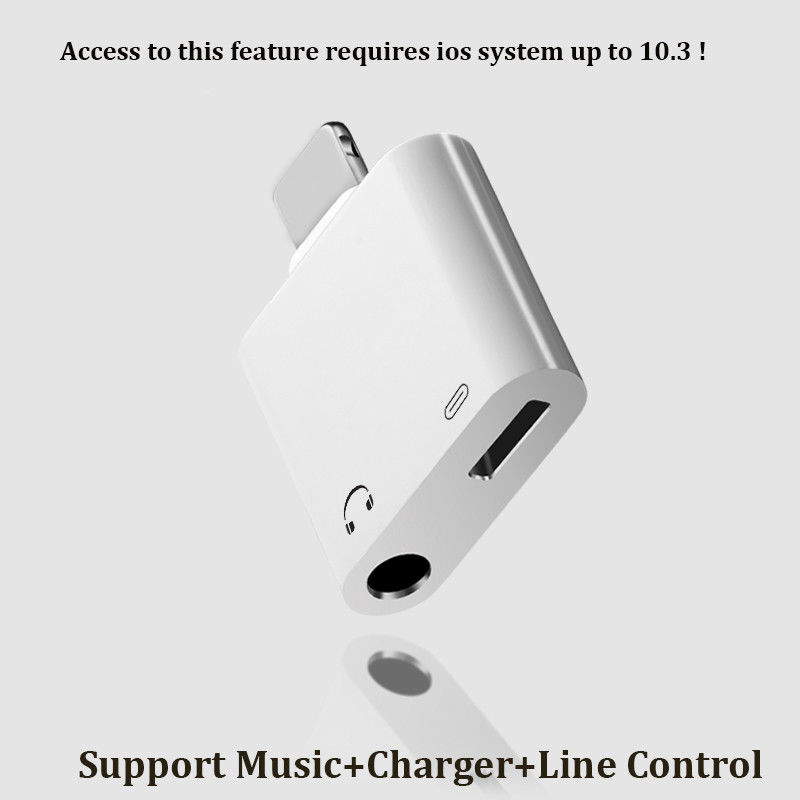2 In 1 IOS To 3.5mm Headphone Jack Adapter Audio Charge Cable Convert For iPhone 7 8 X For IOS 10.3 Audio Jack Charger Splitter