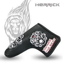 กอล์ฟพัตเตอร์ฝาครอบหัวสิงโตรูปแบบ Headcover ใบมีดสีขาว/สีดำเลือกจัดส่งฟรี