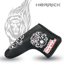 golf Putter Cover Lions head pattern Headcover  with  Blade Style white/black to choose free shipping