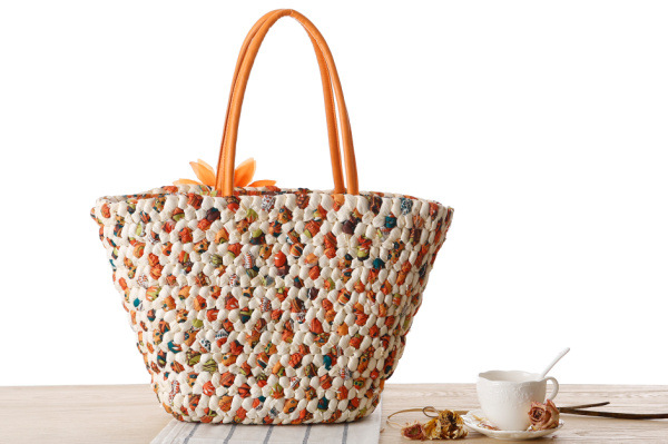 Woven Beach Bags Women Large Straw Handbags Summer Fashion Zipper 17 Bolsa Feminina Flower Ladies Hand Bags Female New Arrival 8