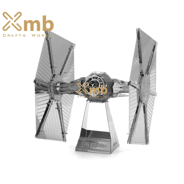 2016 new tie fighter warplane silver metal 3d puzzle metallic educational collectable