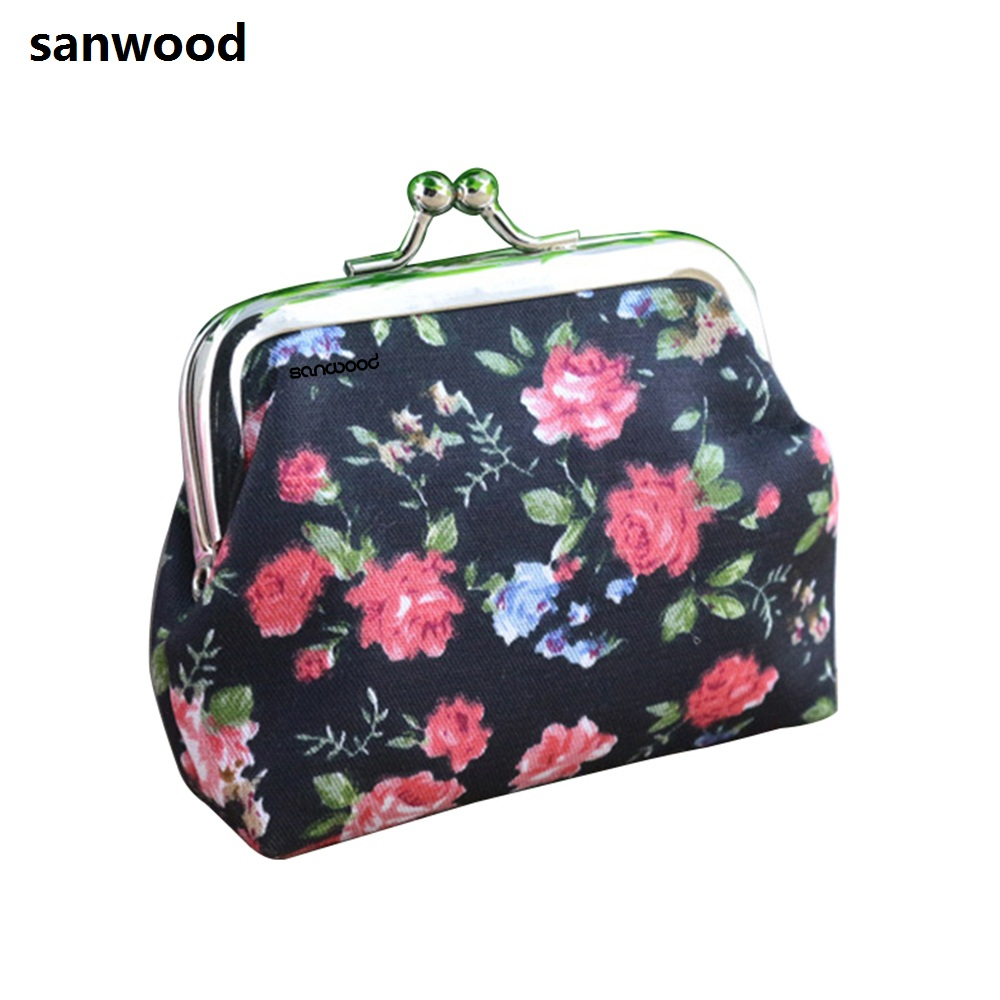 Coin Purses Women Purse for Coins Children's Wallet Kids Wallets 2016 Small Rose Print Floral Bomboniera Buckle Carteira 9IHE coin purses women purse for coins children s wallet kids wallets cats fashion small bag gato monederos mujer monedas carteira