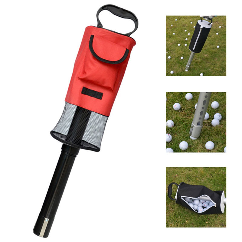 Outdoor Bags Portable Golf Ball Picker Pick-Ups Retrievers Storage Bag Scooping Device Golf Bags Golf Ball Pick-Up Tool Bag golf ball sample display case