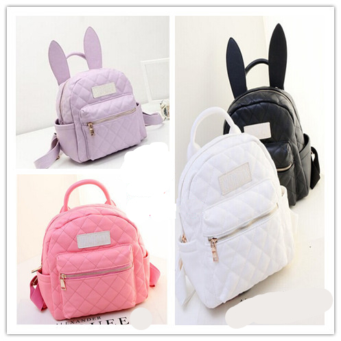 77a5e4ed3b6b Harajuku soft ice cream soft rabbit ears mini backpack small bag backpack  BA0079