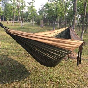 Image 5 - 2 3 persona di Colore Solido Paracadute Hammock di Campeggio Di Sopravvivenza giardino altalena Per Il Tempo Libero borsa da viaggio Portatile Amaca per mobili da giardino