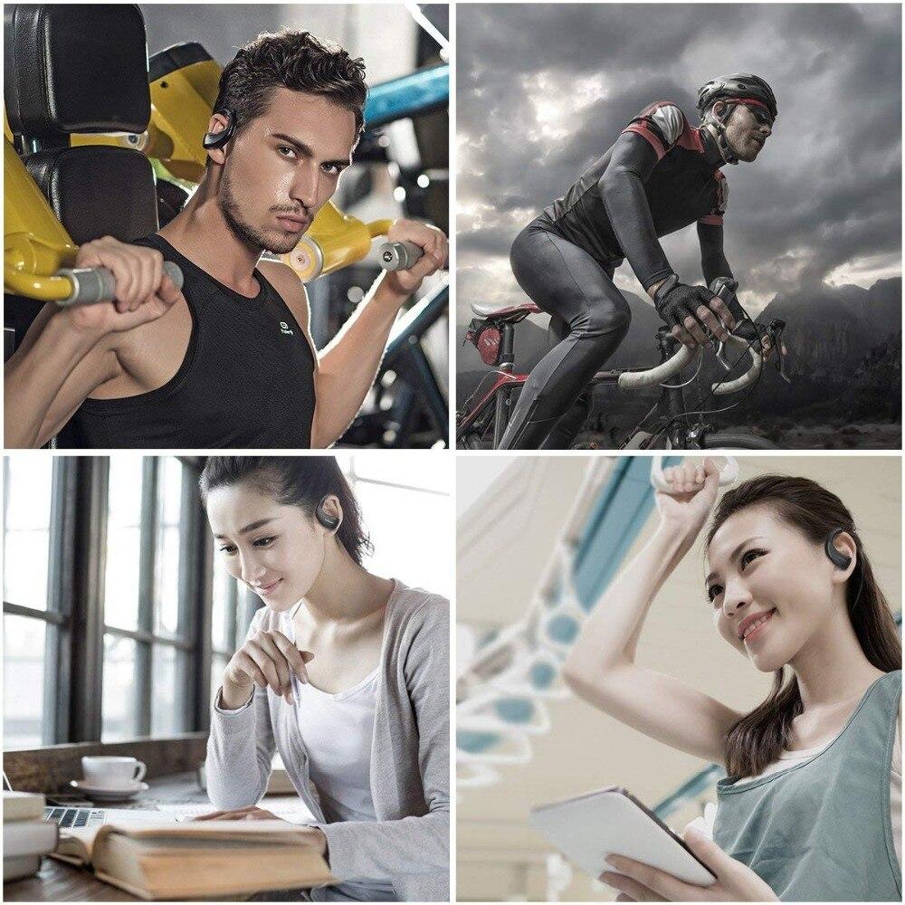 Dacom armadura impermeable del deporte auriculares inalámbricos auriculares Bluetooth auricular de Audio estéreo de auriculares con micrófono de manos libres para correr - 2