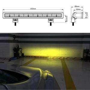 Image 2 - 14 zoll 60W Ultra dünne 4x4 Led Bar offroad Licht Für Auto Niva 12V jeep Wrangler tj ATV SUV Lkw Led Arbeit Barra Fahren Lichter