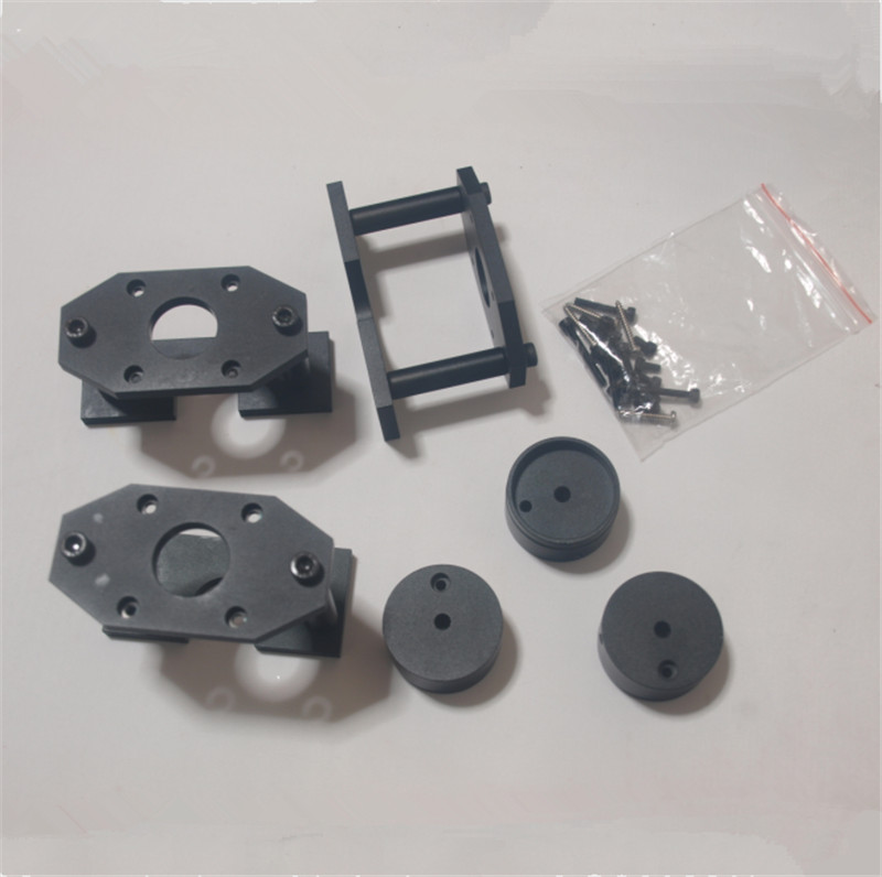 SWMAKER Nema17 Nema23 version PROXXON MF70 MOUNTING KIT Black anodized