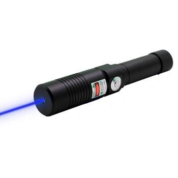 Oxlasers handheld Laser Zaklamp 445nm-450nm Focusseerbaar Militaire laser blauwe laser pointer met safety key gratis verzending