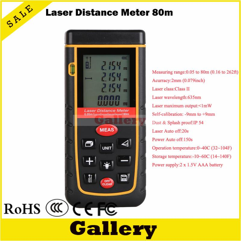laser meter 0.05M-80M Handheld Digital Laser Distance Meter Range Finder later rangefinder prismaticos Rz80 prismaticos dmiotech 262ft 80m mini handheld digital laser distance meter rangefinder red with tripod