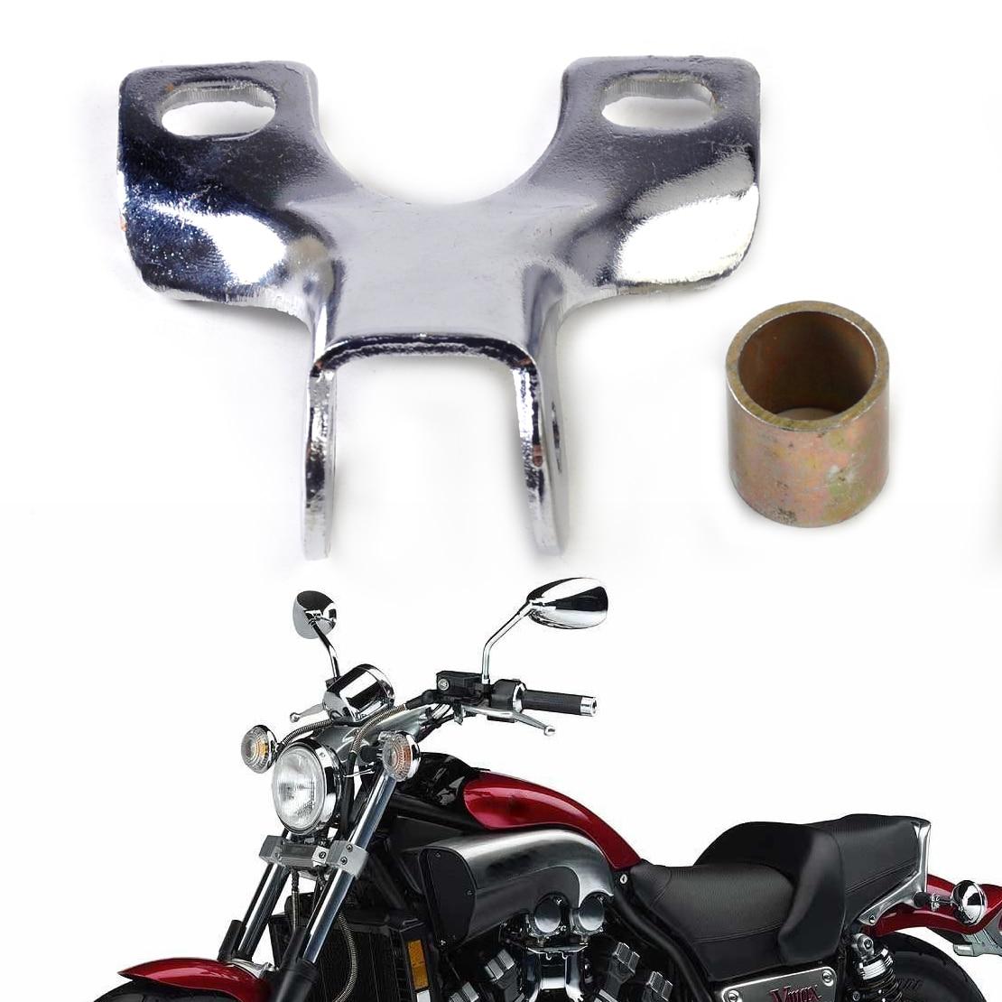 CITALL Motorcycle Chrome Headlight Bracket Bottom Mount Holder For Harley Cruiser Chopper Custom Scooter Kawasaki Honda Suzuki
