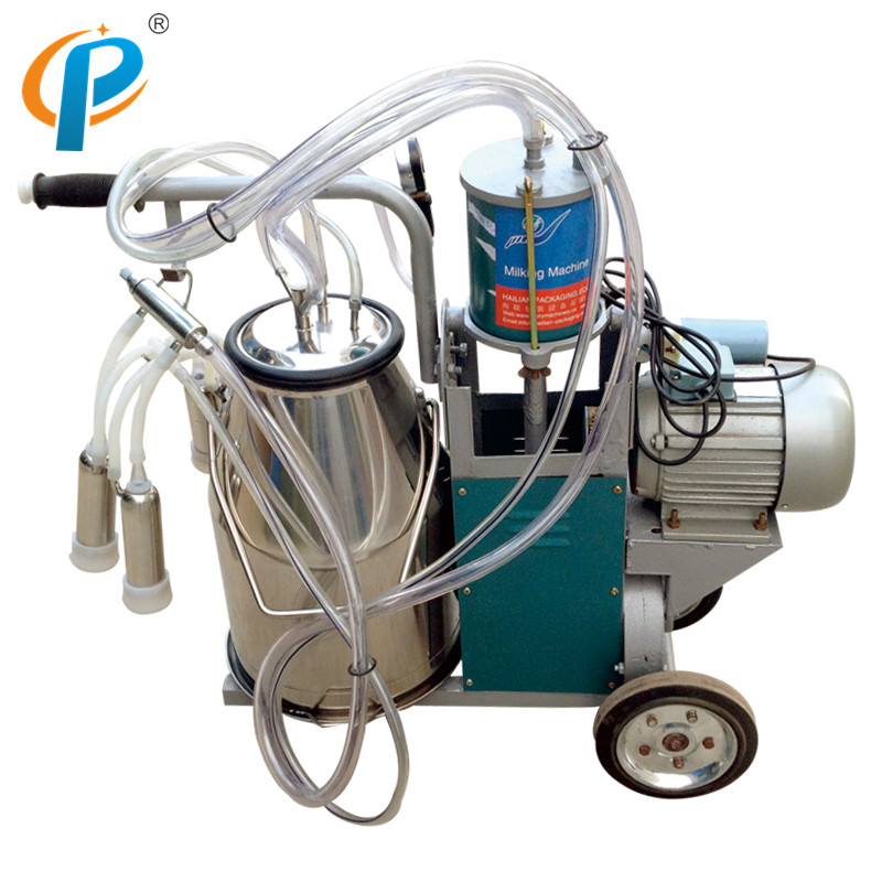 Мобильная Доильная машина с одним ведром из нержавеющей стали, Piston Pump