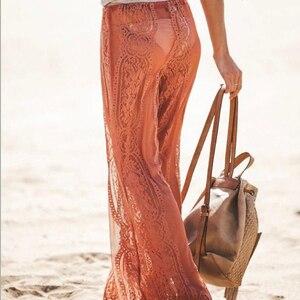 Image 5 - الصيف السيدات مثير الدانتيل السراويل الشاطئ التستر السراويل عالية الخصر السراويل