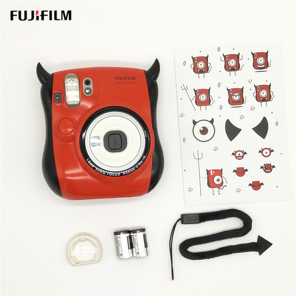 Fujifilm petit diable Instax Mini 25 appareil photo instantané intégré Selfie miroir Flash double volets Auto Pop-up objectif instantané appareil photo