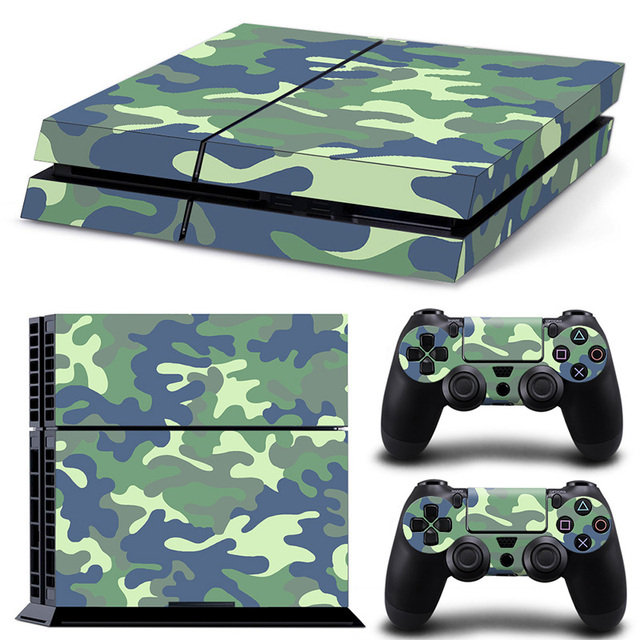 Camouflage Game Stickers For PS4 Stickers Console Skin PS4 Controller Skins Cover For PlayStation4 Game Accessories 2