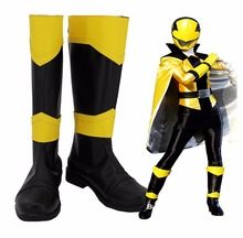 Kaitou Sentai Lupinranger VS Keisatsu Patranger Lupin Yellow Cosplay Boots Shoes Custom Made Any Size