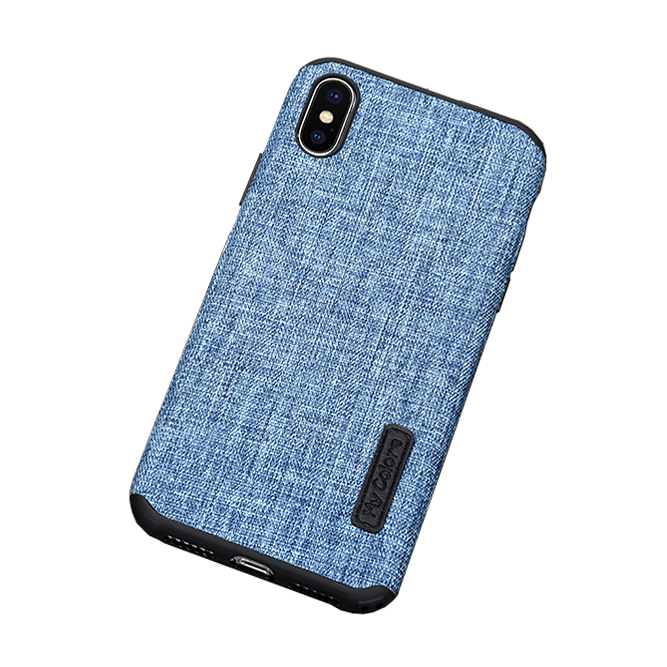 MLLSE Cloth Case For iPhone X Fashion Linen Cloth & Soft TPU Silicone Anti-knock Cover For iPhone 10 Shockproof Protective Funda (1)