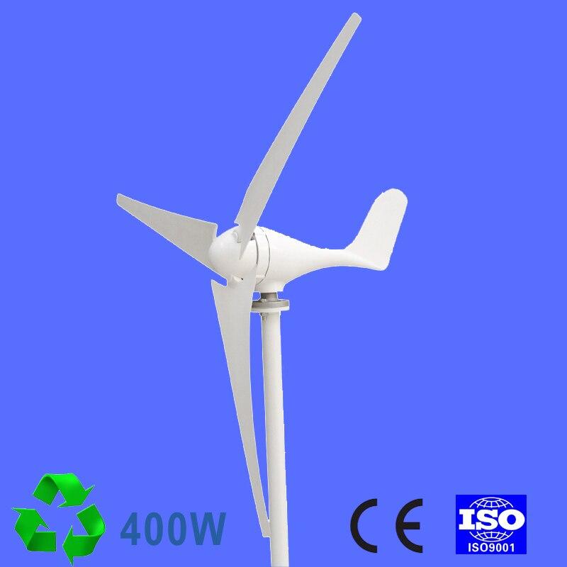 400 W éolienne générateur AC 24 V 2.0 m/s faible vitesse de vent démarrage, 3/5 lame 650mm