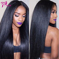 4x4 Glueless Silk Top Full Lace Wigs Light Yaki Brazilian Virgin Hair Full Lace Human Hair Wigs Yaki Straight For Black Women