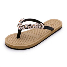 2016 Summer leather sandals and slippers women platform sandals shoes Women Flip Flops with comfort in Korea Beach Slippers s281