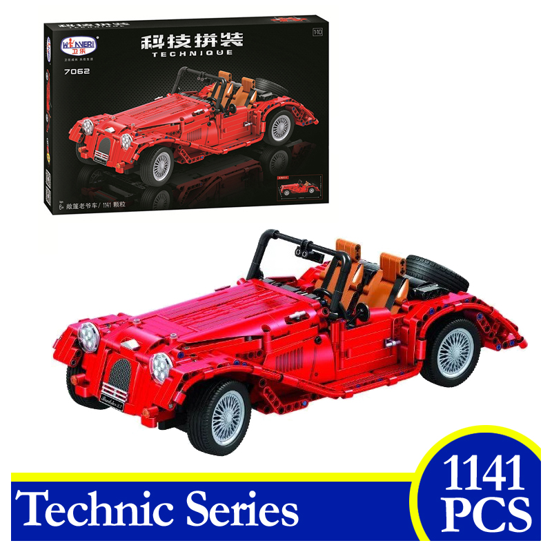 7062 1141PCS Technic Series Convertible Classic Car Building Blocks Bricks Educational Children Gifts Compatible With Lepin evenflo momentum dlx convertible car seat