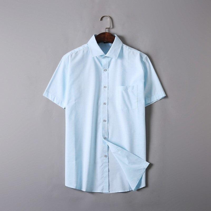 Nouveau grande grande taille 7x 6xl 5xl haute qualité marque vêtements à manches courtes chemise hommes chemise 100% coton décontracté Social chemise hommes