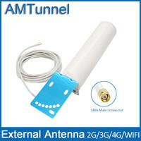 3G WCDMA2100Mhz 4G LTE External Antenna With SMA Male Connector 12dBi And With 50 3 RG58