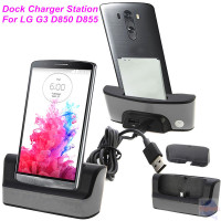 New Products Black And Silver Micro USB Sync Data USB Desktop Dock Charger For LG G3