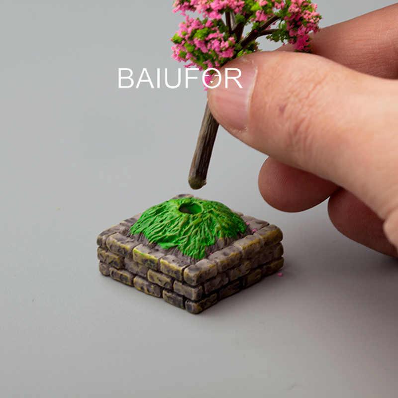 BAIUFOR Miniaturen Mini Bloem Bed Brandkraan Straat Licht Indicator Mailbox Model Fairy Tuin Decor Terrarium Beeldjes