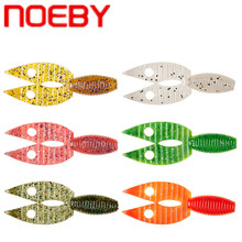 NOEBY 5Pcs Soft Baits 90mm 6.6g Carp Fishing Silicone Soft Fishing Lure Isca Artificial Wobblers Worm Bait for Saltwater Peche 50pcs trolling swim soft worm soft bait 2 4cm 0 5g artificial soft silica gel astringency wobbler fishing lure soft bait isca