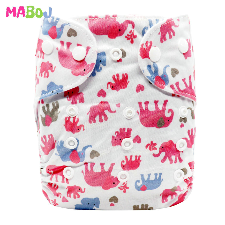 MABOJ Diaper Baby Pocket Diaper Washable Cloth Diapers Reusable Nappies Cover Newborn Waterproof Girl Boy Bebe Nappy Wholesale - Цвет: PD5-5-3