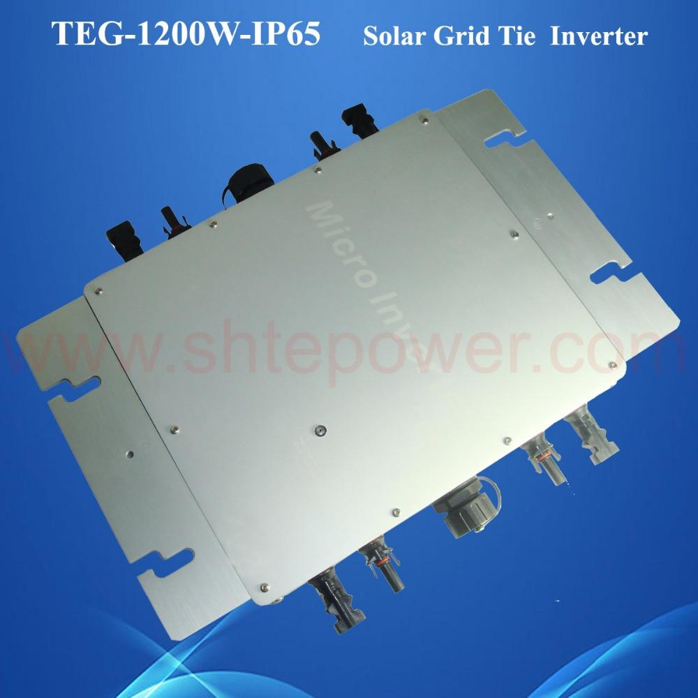 On grid tie inverters 1.2kw 4*300w solar panel 1200w waterproof IP65 dc to ac mppt function solar micro inverters ip65 waterproof dc22 50v input to ac output 80 160v 180 260v 300w
