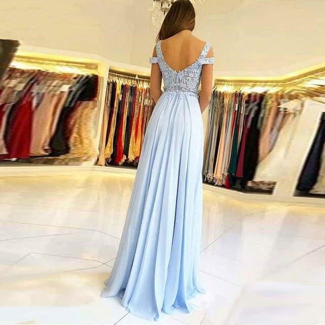 Sexy longue Robe De soirée 2019 une ligne dentelle Applique femmes Robe formelle bal De mariage robes De soirée longueur De plancher Robe De soirée - 2