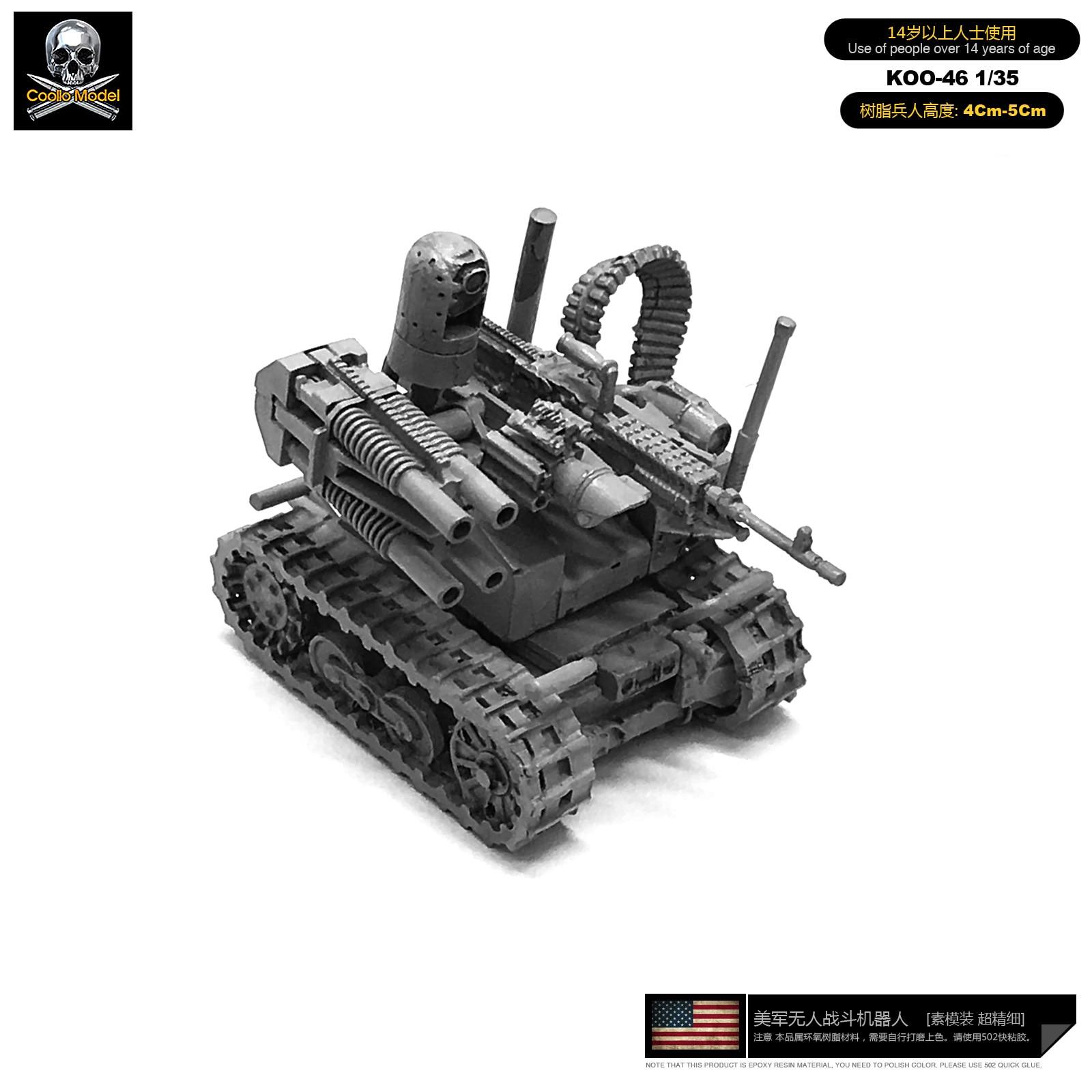 1/35 Model Kits Resin  U.s.  Combat Robot Sefl-assembled Koo-46