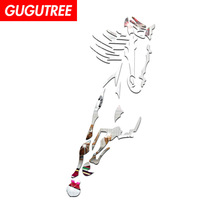 Decorate  3D horse animal art wall mirror sticker decoration Decals mural painting Removable Decor Wallpaper LF-1898