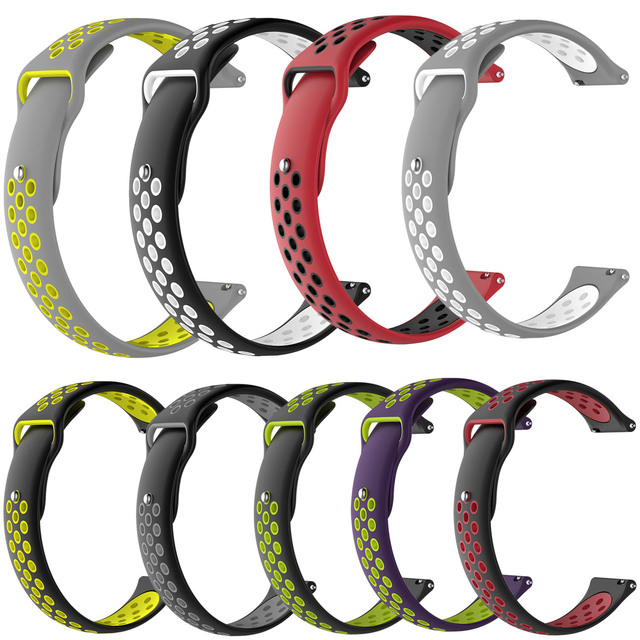 20mm 22mm Rubber Silicone Strap for Samsung Gear S3 S2 Sport Frontier Classic Wa