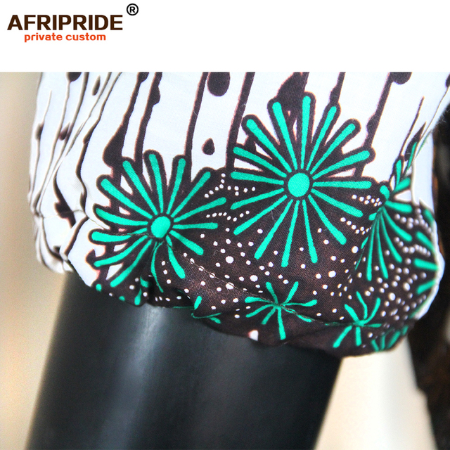 2019 summer dashiki african mini dresses for women ankara print robe africaine femme bazin riche vestido AFRIPRIDE S1825025