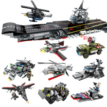 Police Series Team Super Carrier Combat aircraft Building Blocks Toys For children
