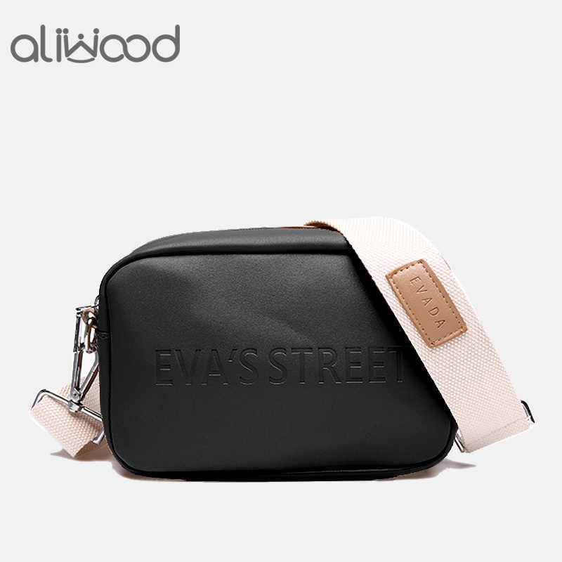3630842d13c5 Aliwood Brand Designer Leather Women bag Ladies Shoulder Messenger Bags  Handbag Letter Flap Simple Fashion Females Crossbody Bag