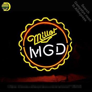 Neon Sign MGD Miller Lite Genuine Draft neon Light Sign Custom Brand Design Restaurant Hotel Neon signs for sale
