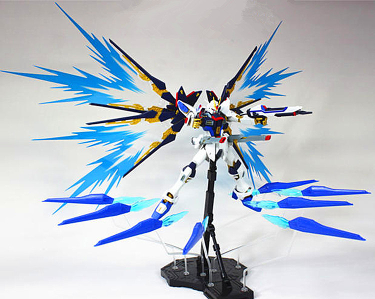"""MG 1//100 Strike Freedom Gundam for Dragoon /""""Wings of Light/"""" fire effect /""""paralle"""