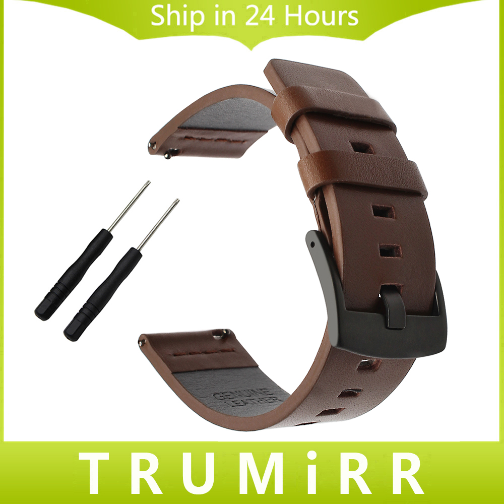 Italian Oily Leather Watchband 20/22/24mm for Garmin Fenix 5S/5/Vivoactive HR/Forerunner 935 (FR935)/Epix Watch Band Wrist Strap 22mm width nylon strap for garmin fenix 5 band outdoor sport watchband with quick fit for garmin fenix 5 replace wrist band