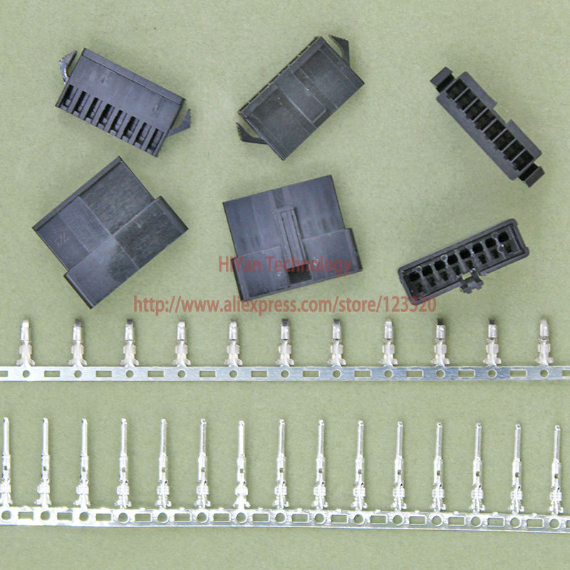 (100sets/lot) connectors SM SM2.54 8Pin Pitch:2.54MM Female and Male Housing + terminals SM-8P JST 2.54MM SM2.54