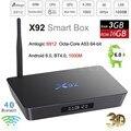2 GB/16 GB 3 GB/32 GB X92 S912 Android 6.0 Caixa de TV Amlogic Octa Core Kodi 16.1 Totalmente Carregado 5G Wifi 4 K H.265 X92 Smart Set Top Box