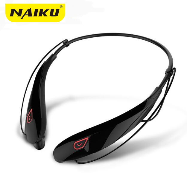 NAIKU New Wireless Stereo Bluetooth Headset Musik Hovedtelefon Sport Bluetooth Øretelefon Håndfri In Ear Ørepropper MP3 Media Play