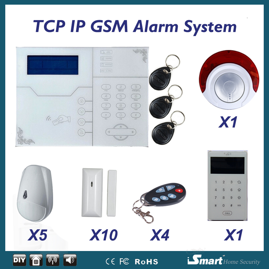 Emooluxr 2017 D'alarme Réseau GSM avec RJ45 Port Ethernet IOS Android APP Télécommande GSM Cambrioleur Système D'alarme De Sécurité À La Maison